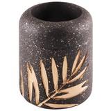 Teelichthalter Tony - Goldfarben/Schwarz, MODERN, Kunststoff (7/8cm) - Luca Bessoni