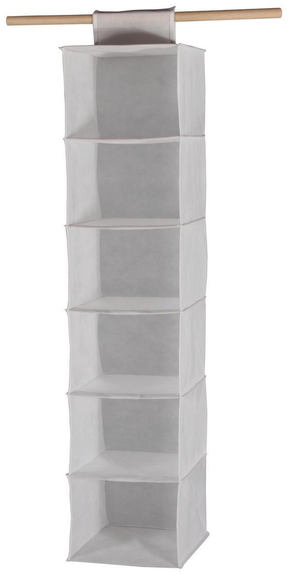 Hängeaufbewahrung Cliff 2 - Weiß, MODERN, Textil (30,5/127/30cm)