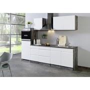 Küchenblock Cardiff B: 270 cm Weiß/Vintage - Eichefarben/Weiß, Basics, Holzwerkstoff (270cm) - MID.YOU