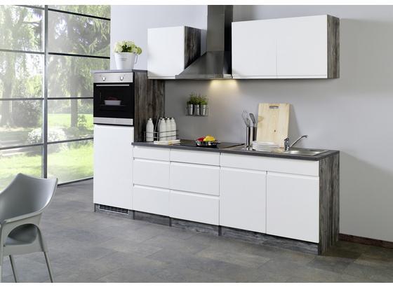 Küchenblock Cardiff B: 270 cm Weiß/Vintage - Eichefarben/Weiß, Basics, Holzwerkstoff (270/200/60cm) - MID.YOU