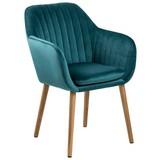 Armlehnstuhl Emilia Smaragdgrün - Smaragdgrün, Design, Holz/Textil (57/83/59cm) - Carryhome