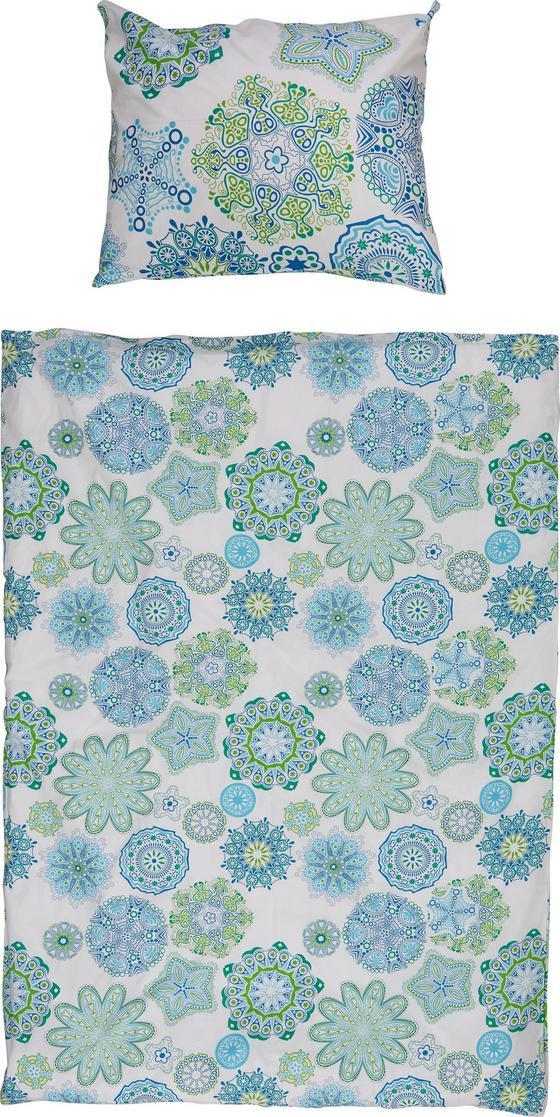 Bettwäsche Anita - Türkis/Blau, MODERN, Textil (140/200cm)