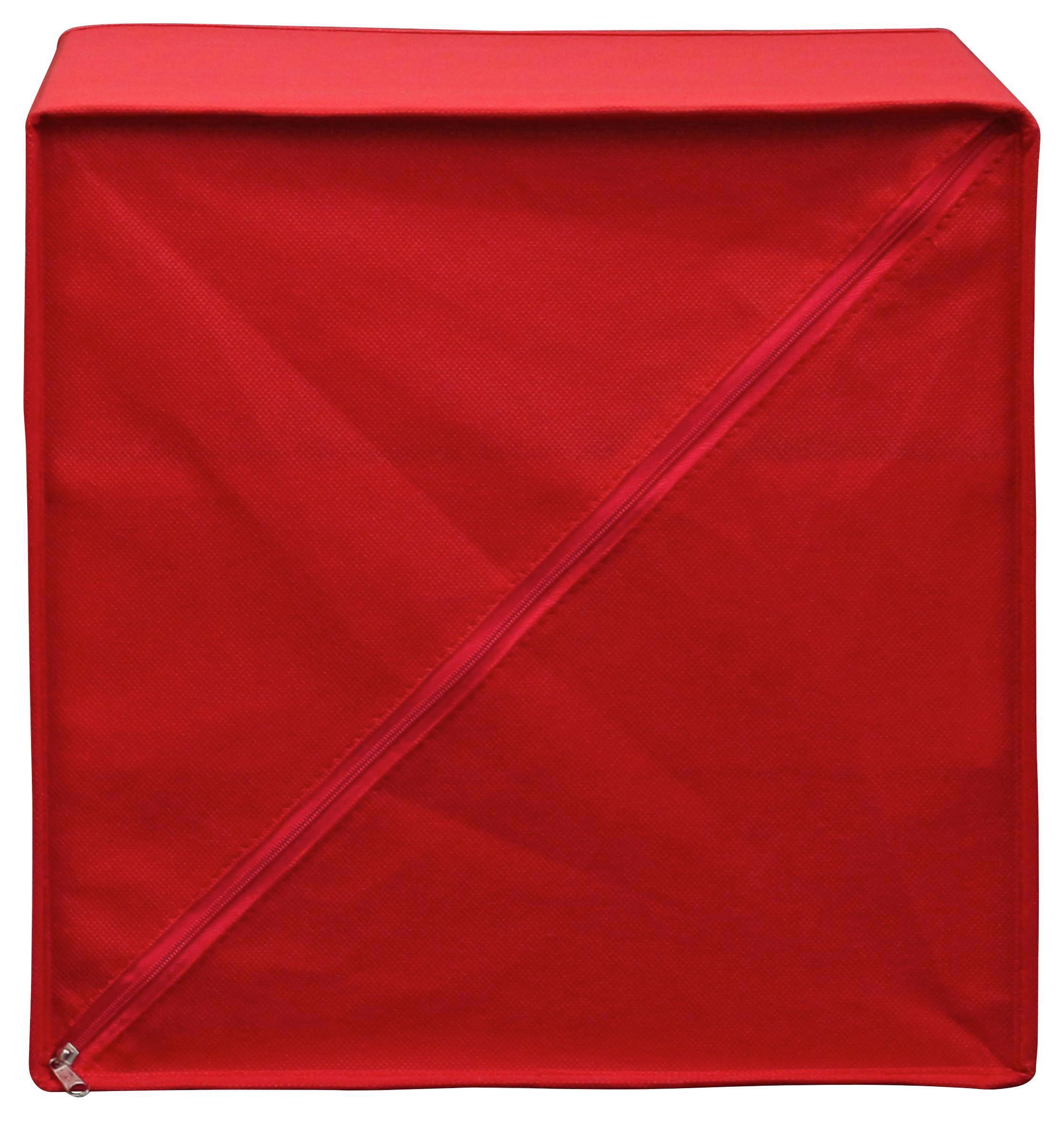 Zásuvkový Box Lisa - červená, Moderní, kov/karton (32/32/32cm)