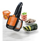 Gemüseschneider Nicer Dicer Quick - Schwarz/Orange, KONVENTIONELL, Kunststoff/Metall (21/7,3/5,8cm) - Mediashop