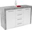 Komoda Focus Fck02 - bílá, Moderní, dřevěný materiál (149/86/45cm)