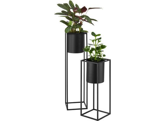 Nádoba Na Květináč Kiara - černá, Lifestyle, kov (20,8/55,5cm) - Mömax modern living