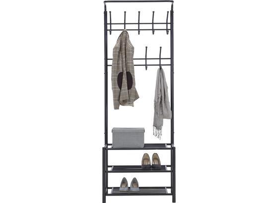 STOJAN AMELIA - čierna, Moderný, kov (67/185/32cm) - Mömax modern living