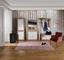 Šatní Panel Malta - barvy dubu, Moderní, dřevěný materiál (50/195,4/28,2cm)