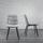 Židle Mario - černá/světle šedá, Moderní, kov/dřevo (39/88/59,5cm) - Modern Living