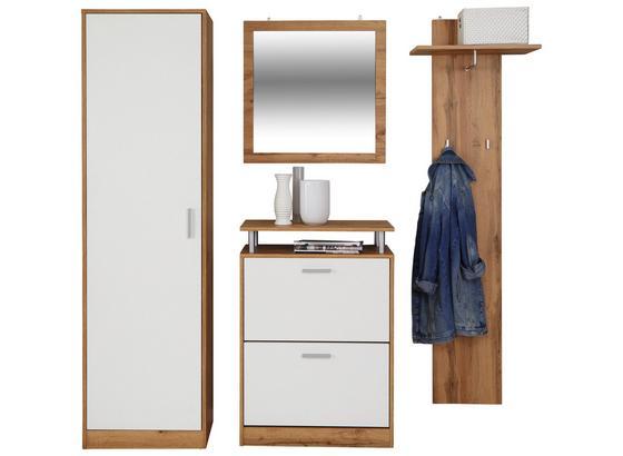 Šatník Pop - farby dubu/biela, Moderný, kompozitné drevo (179l)