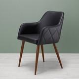 Židle Andre - tmavě hnědá/antracitová, Moderní, kov/dřevo (60/84/57cm) - MODERN LIVING