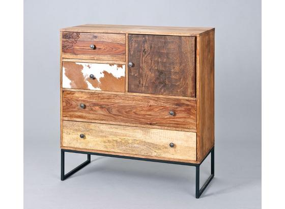 Kommode Segall B: 100 cm Braun - Beige/Schwarz, Basics, Holz/Holzwerkstoff (100/110/42cm)