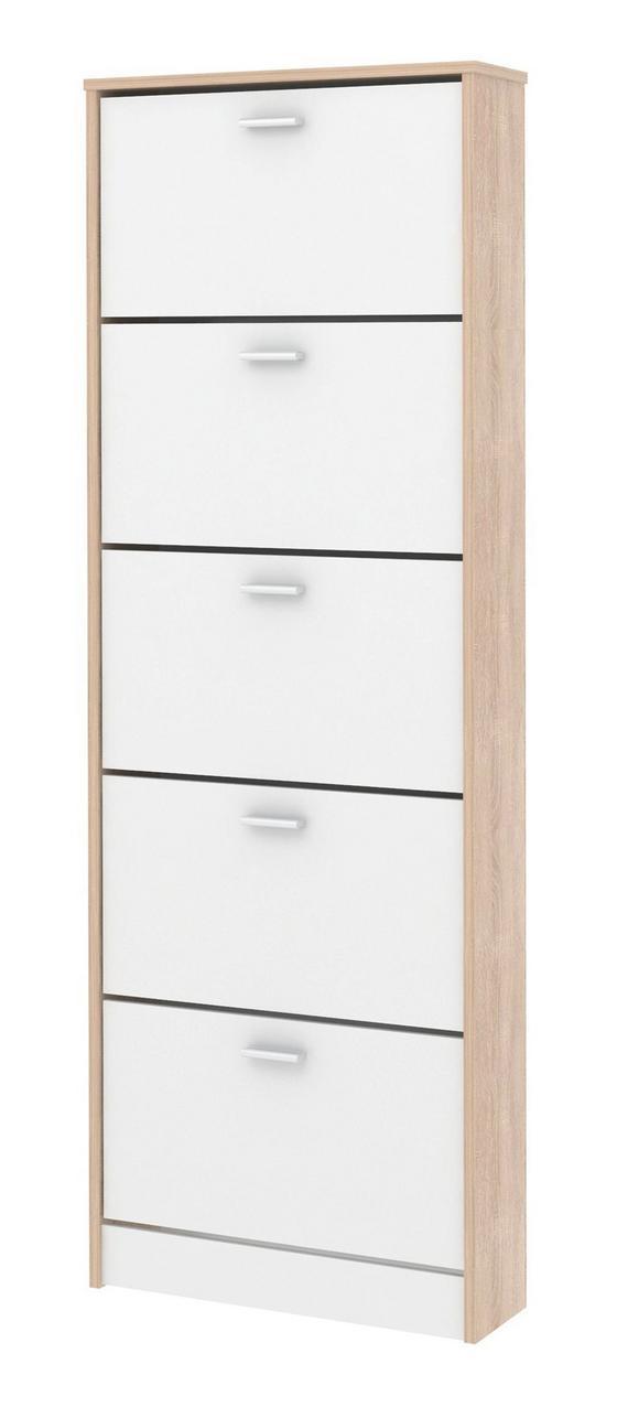 Skrinka Na Topánky Dub Sonoma - farby dubu, Moderný, drevený materiál (58/170/18cm)