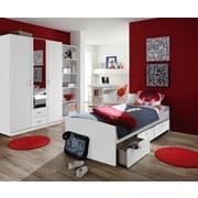 Jugendzimmer Point Weiß - Weiß, MODERN, Holzwerkstoff (90/200cm) - MID.YOU