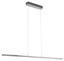 LED-hängeleuchte Flagranera - Weiß/Nickelfarben, MODERN, Kunststoff/Metall (120,5/8/130cm)