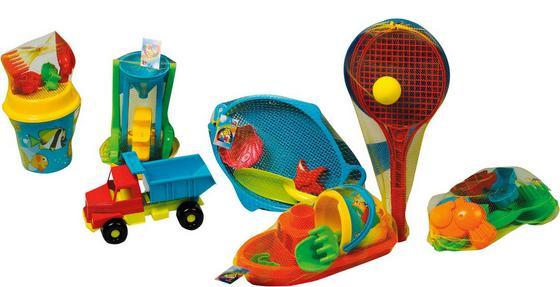 Sandspielzeug 7 Verschiedene Modelle - Blau/Gelb, KONVENTIONELL, Kunststoff