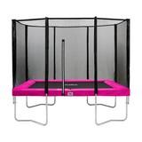 Trampolin 153x214cm mit Sicherheitsnetz/ Salta Combo - Pink/Schwarz, Trend, Kunststoff/Metall (153/214cm)