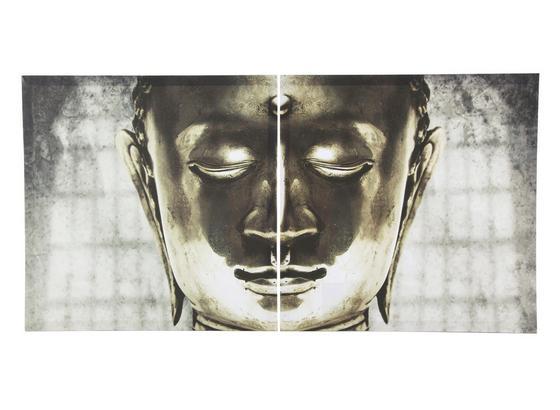 Obraz S Napínacím Rámem Buddha - Lifestyle, dřevo/umělá hmota (60/60cm) - Mömax modern living