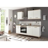 Kuchyňský Blok Quince - bílá/Sonoma dub, Moderní, kompozitní dřevo (210/211/60cm)