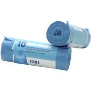 Müllsack 120 L - 10 Stück - Blau, KONVENTIONELL, Kunststoff (6/19cm)