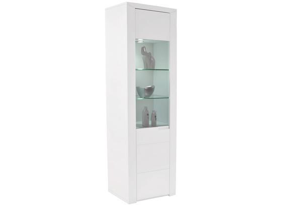 Vitrína Bree - bílá, Moderní, kompozitní dřevo (65,8/202,8/37,7cm)