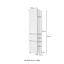 Hochschrank Pienza B: 40 cm Grau - Silberfarben/Graphitfarben, Basics, Holzwerkstoff (40/185/35cm) - Livetastic