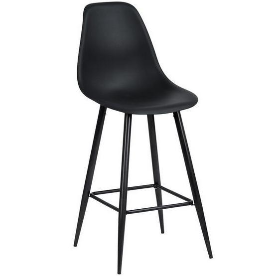 Barhocker Blacky - Schwarz, MODERN, Kunststoff/Metall (45/108/54,5cm)