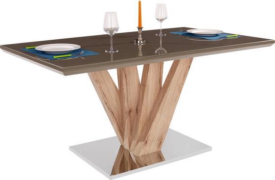 Jídelní Stůl Anton - jílová barva/hnědá, Moderní, kov/dřevěný materiál (160/76/90cm)