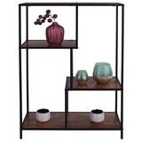 Regál Industry - prírodné farby/čierna, Moderný, kov/kompozitné drevo (77/114/33cm) - Luca Bessoni