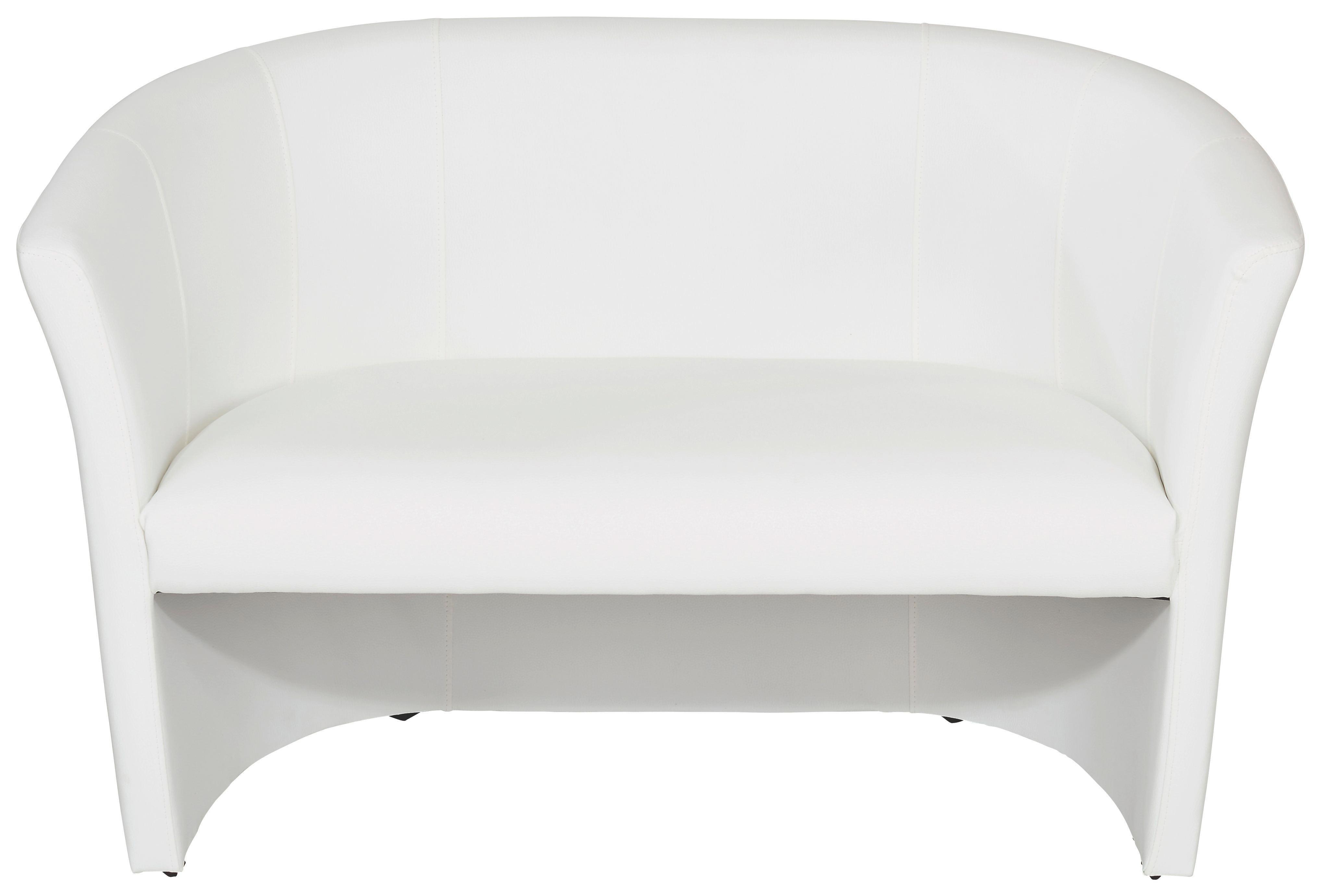 Dvoumístná Pohovka Hugo Duo - bílá, Moderní, textil (118/76/59cm) - OMBRA