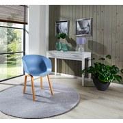 Stuhl Sylvie Graublau - Blau/Naturfarben, MODERN, Kunststoff/Metall (53/75,5/58cm) - Ombra