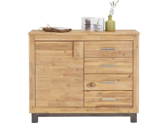 Komoda Aruba - barvy akácie, Konvenční, dřevo/kompozitní dřevo (110/90/45cm) - Zandiara