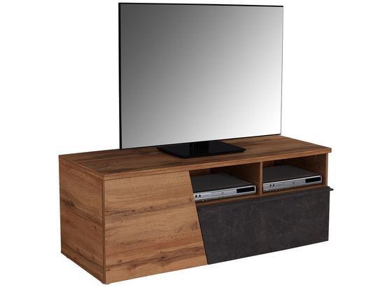 Tv Díl Venedig - tmavě hnědá/barvy dubu, Moderní, kompozitní dřevo (140/47/40cm)