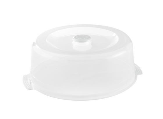 Süteményes Doboz És Tető 2 Részes - Átlátszó/Fehér, konvencionális, Műanyag (32/12.7cm)