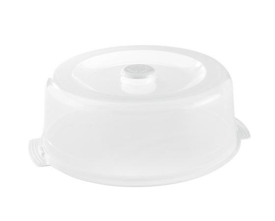 Süteményes Doboz És Tető 2 Részes - tiszta/kék, konvencionális, műanyag (32/12.7cm)