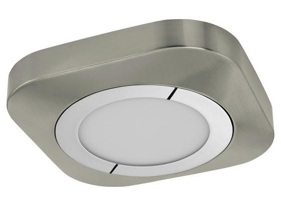 LED-Deckenleuchte Pyto - Weiß/Nickelfarben, MODERN, Kunststoff/Metall (23/23/4cm)