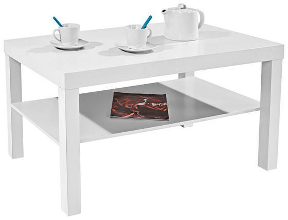 Dohányzóasztal Light - fehér, modern, faanyagok (90/45/55cm)