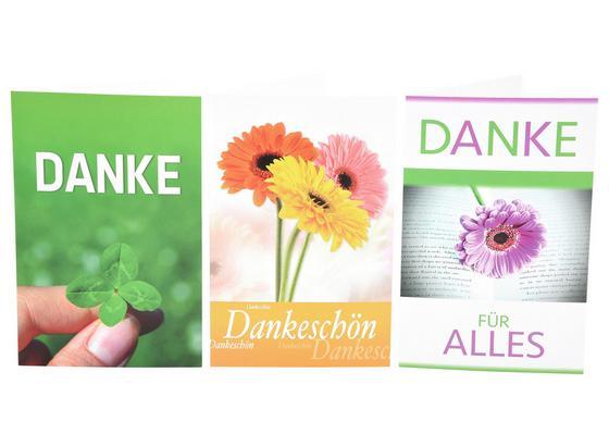 Billett Danke - Multicolor, MODERN, Papier (11,5/17,5cm)