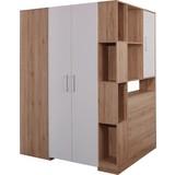 Eckschrank Box - Eichefarben/Weiß, MODERN, Holzwerkstoff (150/205/120cm)