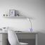 Lampa Na Písací Stôl Nihat, Max. 5 Watt - biela, kov/plast (13,5/11,5/45cm) - Mömax modern living