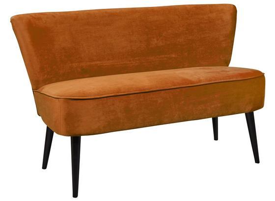 Sitzbank Lord B: ca. 140 cm Gold - Goldfarben/Schwarz, Trend, Holzwerkstoff/Textil (140/83/75cm) - Carryhome