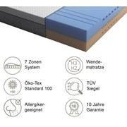 Wendematratze Bodystar 140x200cm H2/H3 - Weiß, Basics, Textil (140/200cm) - BODY STAR classic