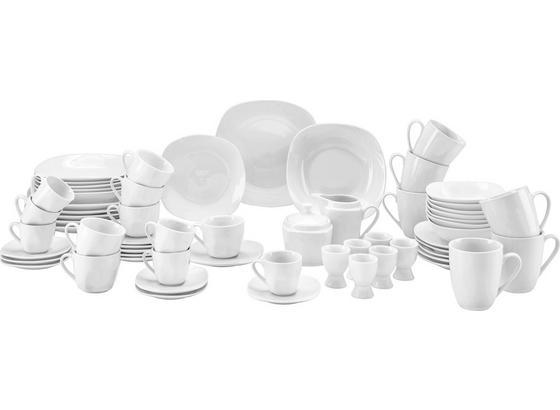 Kombinovaný Servis Vera, 62 Dielny - biela, Konvenčný, keramika - Mömax modern living