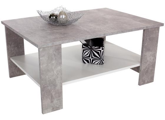 Dohányzóasztal Paolo - Világosszürke/Fehér, konvencionális, Faalapú anyag/Fa (90/41/55cm)