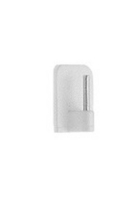 Selbstklebehaken Weiß, 4 Stk. - Weiß, KONVENTIONELL, Kunststoff/Metall
