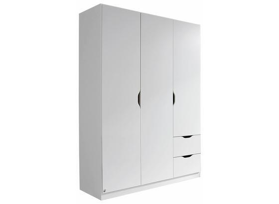 Skříň Freising - bílá, Moderní, kompozitní dřevo (136/197/54cm)