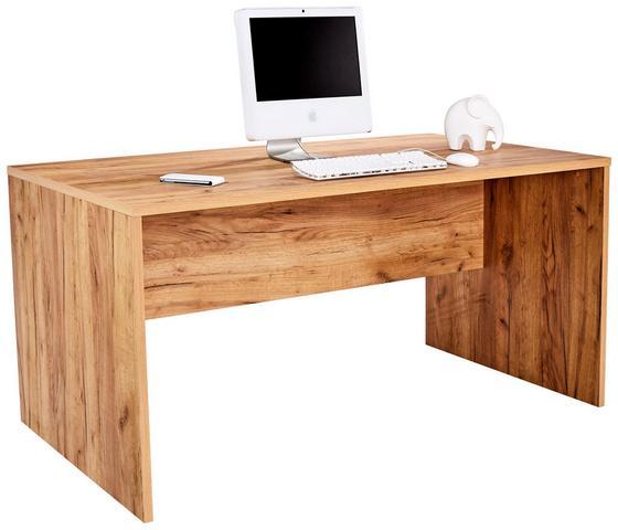 Psací Stůl Profi - barvy dubu, Moderní, dřevěný materiál (160/76/80cm) - Ombra