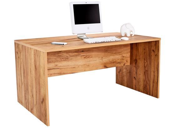 Schreibtisch B 160cm H 76cm Profi, Eiche Dekor - Eichefarben, MODERN, Holzwerkstoff (160/76/80cm) - Ombra
