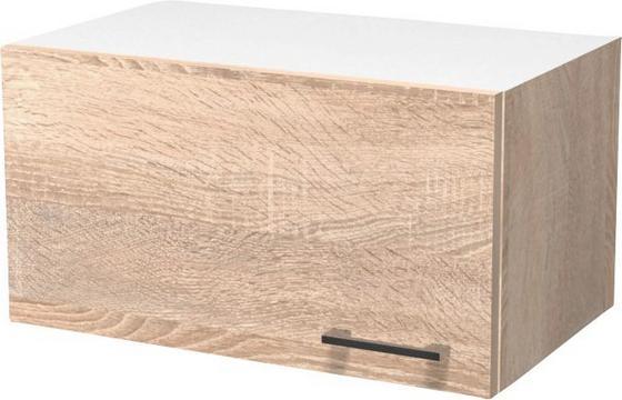 Kuchyňská Horní Skříňka Samoa  Kh 60 - bílá/barvy dubu, Konvenční, kompozitní dřevo (60/32/32cm)