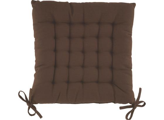 Sedák Anke - hnědá, textil (40/40cm) - Mömax modern living
